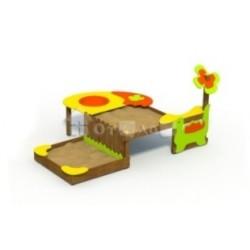 Разноуровневая песочница для детей с ограниченными физическими возможностями